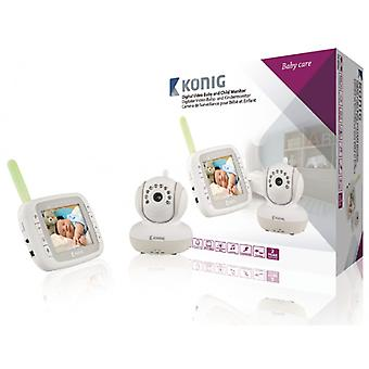 Konig Digital video baby and child monitor with 3.5 LCD 2.4 GHz