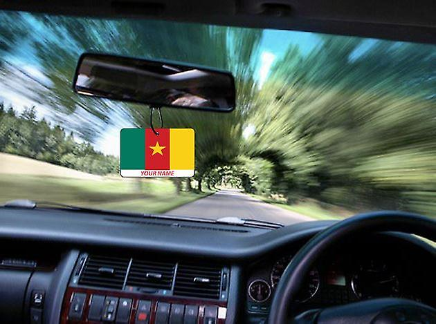 Cameroon Flag Personalised Car Air Freshener