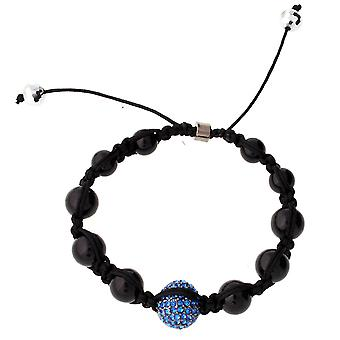 Iced out unisex bracelet - disco ball ONE blue