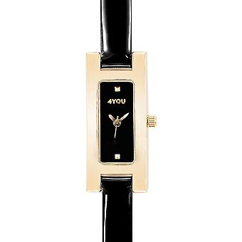 4YOU Dameur wrist watch analog quartz syntetisk læder 250011000