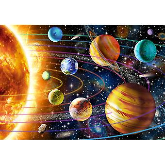 Planetsystem plakat Print af Adrian Chesterman