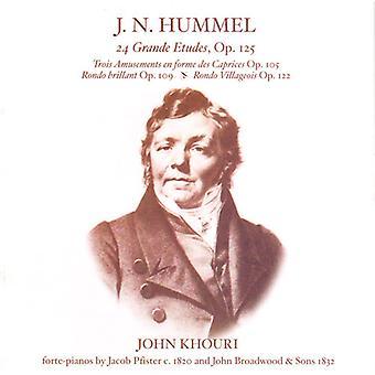 Johann Nepomuk Hummel - J.N. Hummel: 24 Grande Etudes, Op. 125; Osv [CD] USA importerer