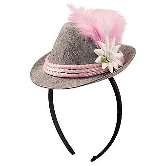 Oktoberfest Hat ladies pink mini Hat headband tiara Oktoberfest Seppl Hat