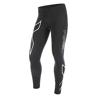 2XU Herren Laufhose Heat Compression Tights Schwarz - MA4181b-0338
