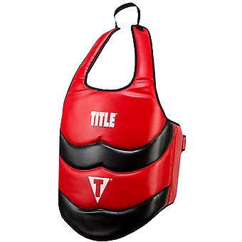 Title Boxing Classic Advanced Wrap-Around Protective Body Shield - Red/Black