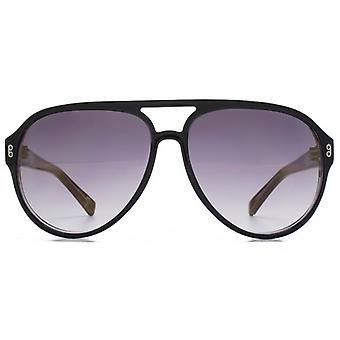 Hook LDN Wander Chunky Cateye Acetate Sunglasses In Black On Clear