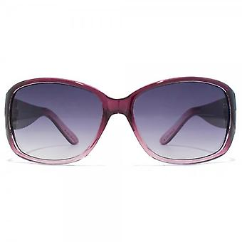 Carvela Medium Wrap Sunglasses In Crystal Berry Gradient