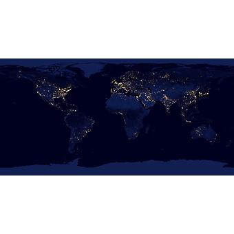 NASA - World Lights from Space Poster Print Giclee