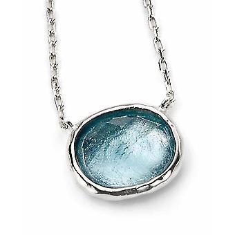 925 Silber Glas Halskette