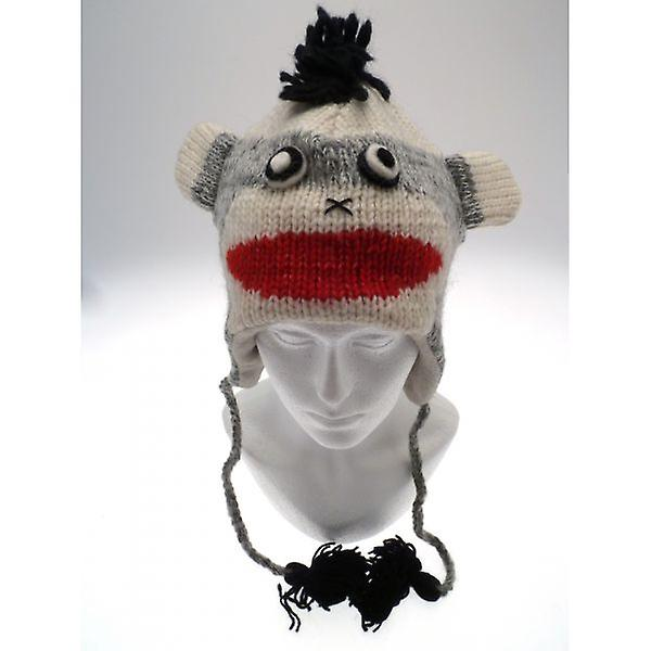 W.A.T Knitted Woollen Mohawk Monkey Animal Hat