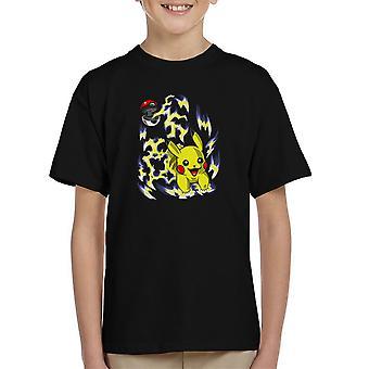 Pikachu Pokeball Pokemon Kid's T-Shirt