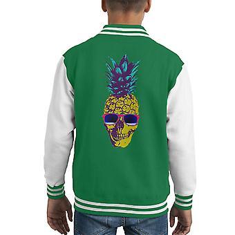 Varsity Jacket di capretto del cranio ananas