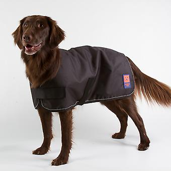 Ginger Ted Shower Waterproof Dog Coat Black with Warm Fleece Lining (All Sizes)