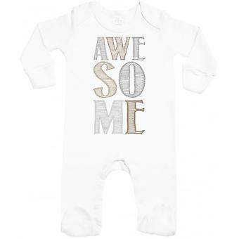 Spoilt Rotten AWESOME Baby Sleepsuit With Scratch Mitts