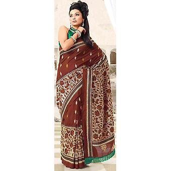 Durga Festival Diwali Partei tragen Sari Sari - Indien