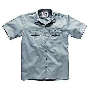 Dickies Short Sleeve Work Shirt - Silver Dickies1574SV Mens Classic Work Shirt