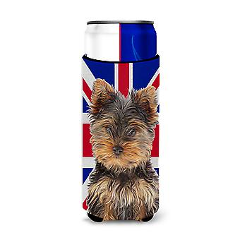 Yorkie Puppy / Yorkshire Terrier with English Union Jack British Flag Ultra Beve