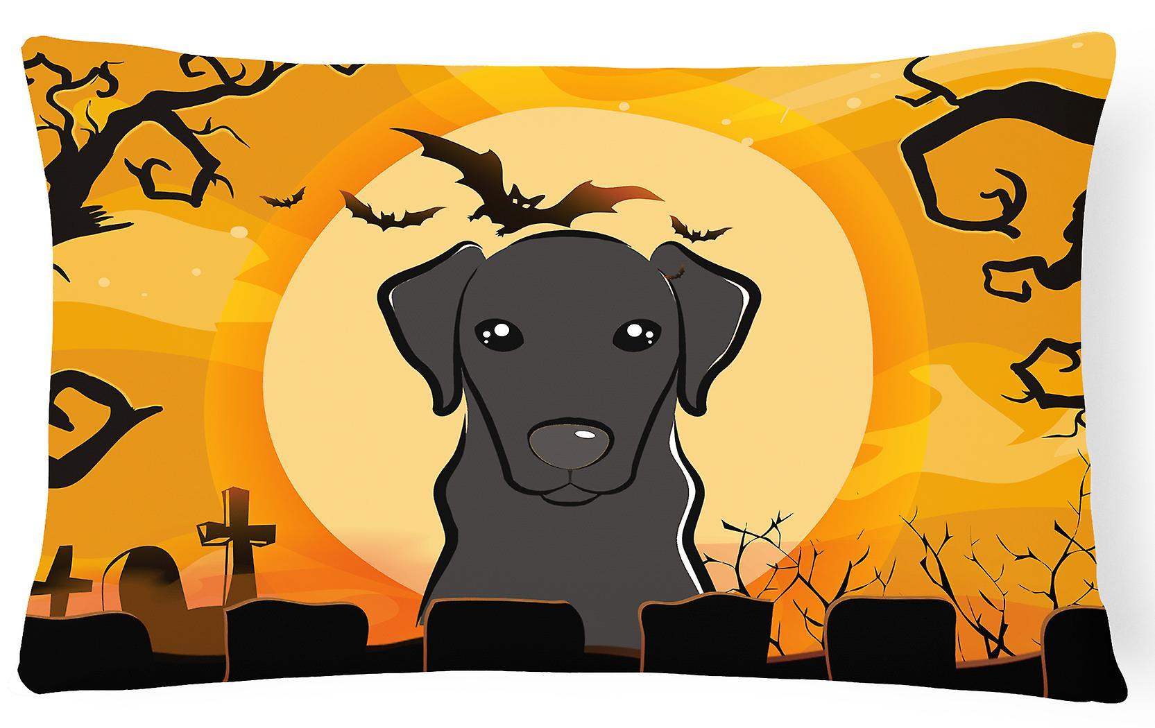 Halloween Labrador Décoratif Tissu Oreiller Noir Ye2IW9DEH