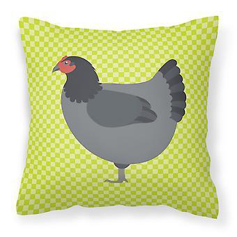 Jersey Giant Chicken Green Fabric Decorative Pillow