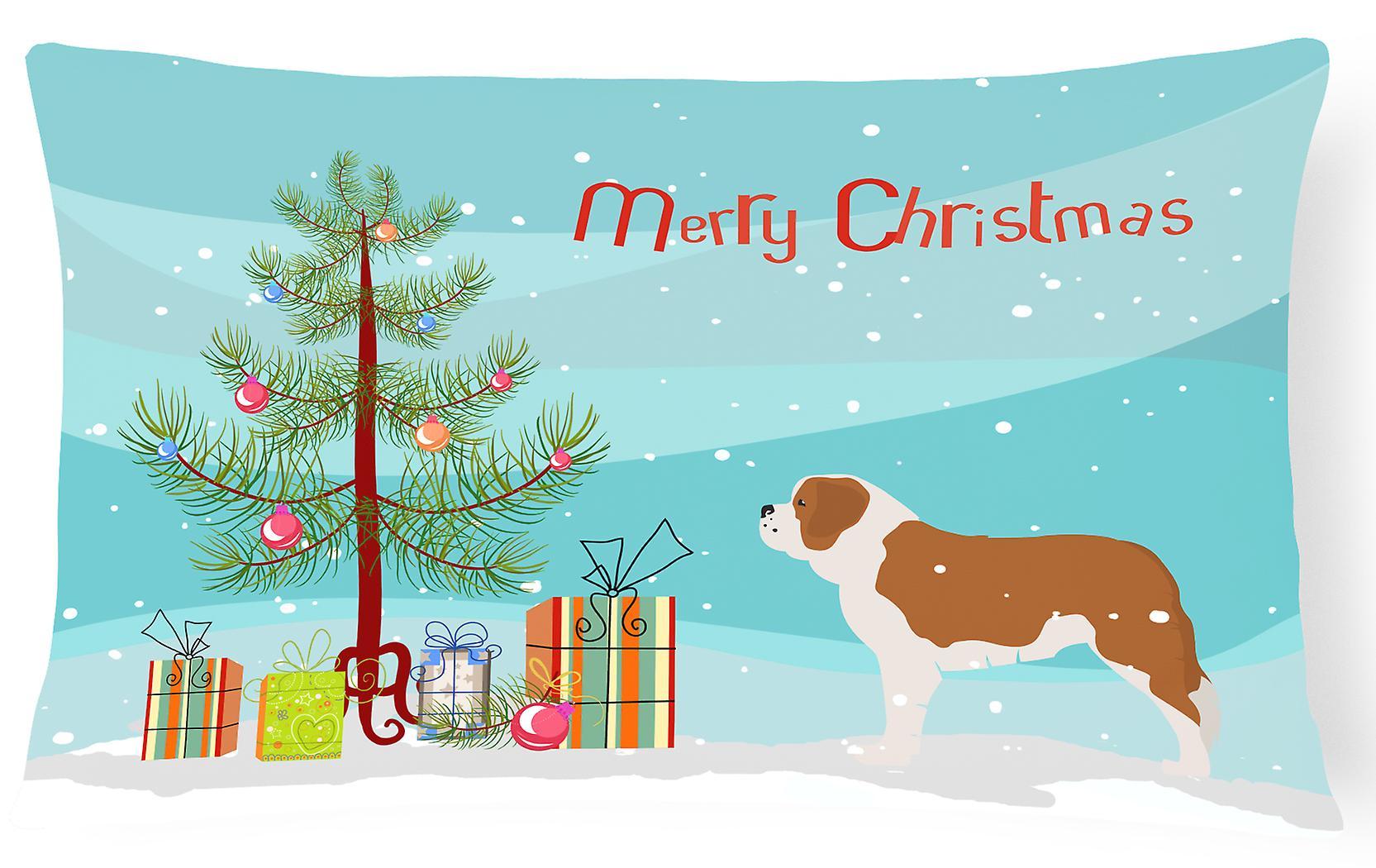 Merry Tissu Christmas Toile Décoratif Saint Tree Oreiller Bernard l13uKcTFJ