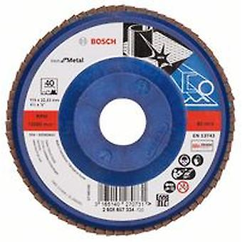 Bosch 2608607334 115Mm P40 X571 Flap Disc For Metal Plastic Backed Straight