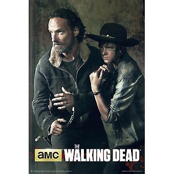 Gå døde Rick & Carl plakatutskrift plakat