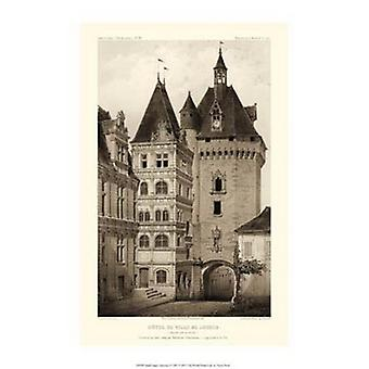 Small Sepia Chateaux VI Poster Print by Victor Petit (10 x 15)