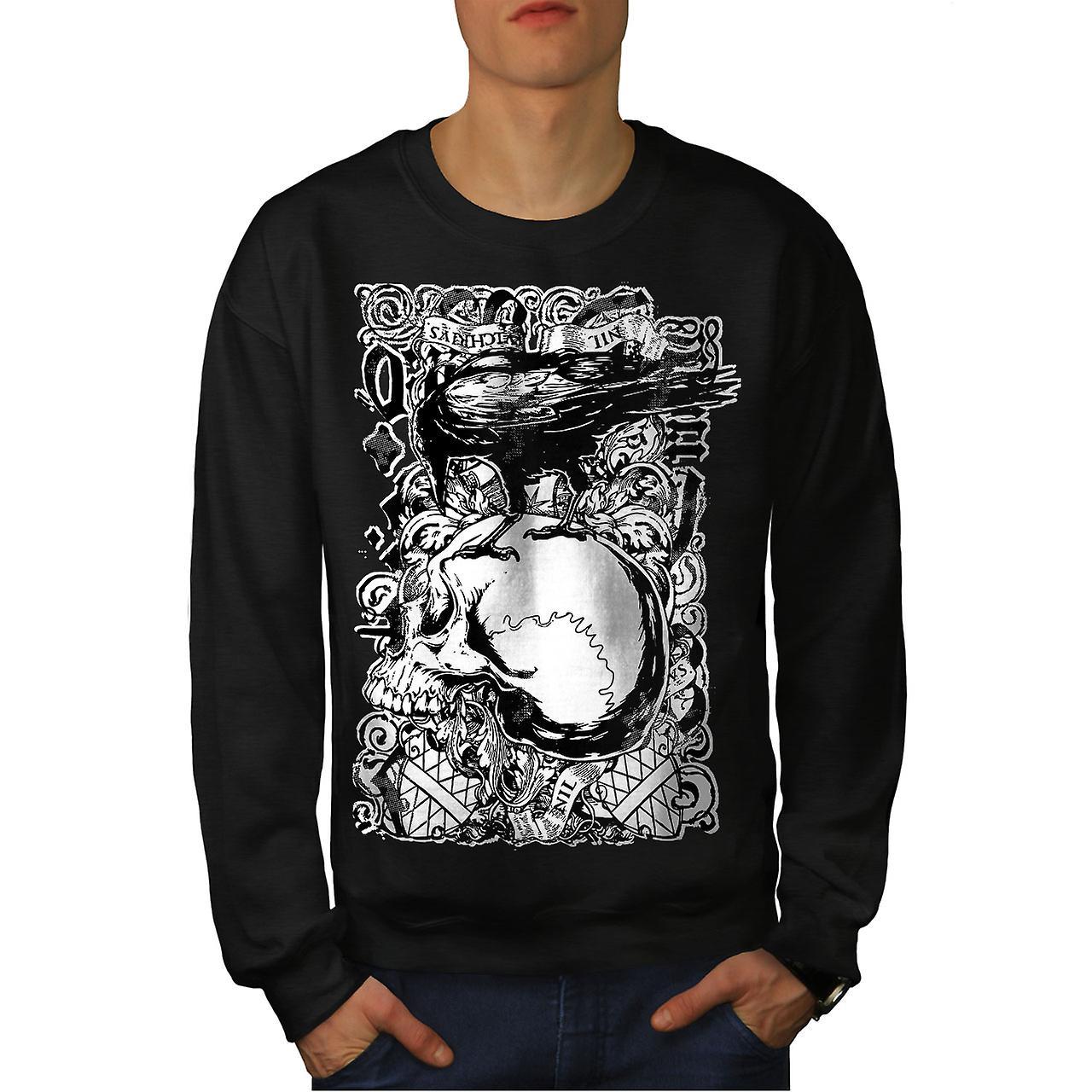 Corbeau gothique et crâne hommes noirSweatshirt