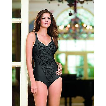 Anita Comfort 3561-415 Women's Ancona Silver Night Grey Floral Non-Wired Firm Control Slimming Shaping Corselette