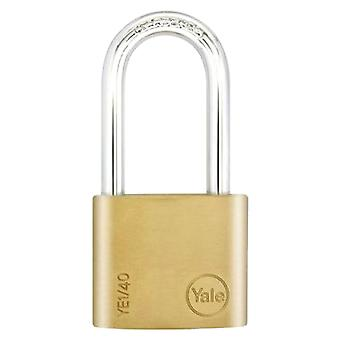 Yale Yale Essential Brass Padlock Long Shackle- 40mm