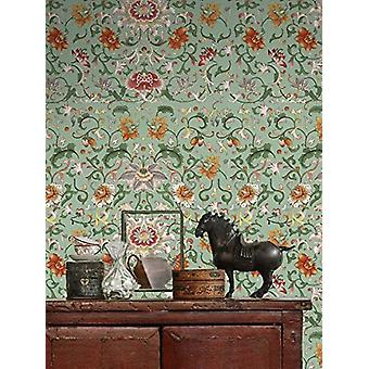 Chinese Floral Wallpaper - 3 x rolls