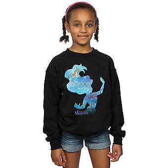 Disney Girls Princesses Ariel Filled Silhouette Sweatshirt