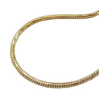Necklace round snake chain gold plated 38cm de no