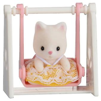 Sylvanian Families Carry baby (Cat On Swing)