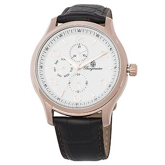 Burgmeister BMT04-385 Montpellier, Gents watch, Analogue display, Quartz with Seiko Movement - Water resistant, Stylish leather strap, Classic men's watch