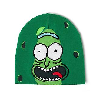 Bioworld Mens Morty Pickle Rick Face Cuffless Beanie Green  One Size KC853334RMT