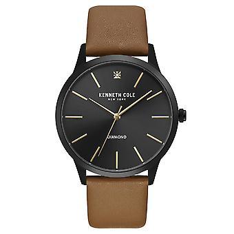 Kenneth Cole New York men's wrist watch analog quartz leather KC15111012