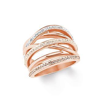 s.Oliver jewel ladies ring stainless steel IP ROSE 202096
