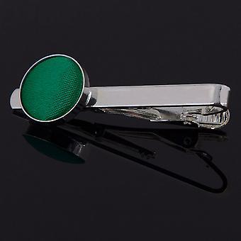 Corbata de esmeralda verde llano