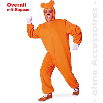 Медведь Мишка Спецодежда Оранжевый жевательные унисекс костюм