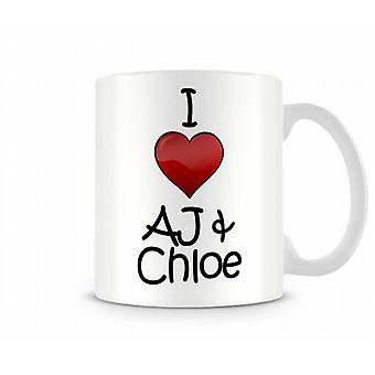 I Love AJ Chloe Printed Mug