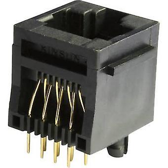 Modulaire gemonteerde socket Socket, verticale verticale MEB8/8PST zwart econ sluit MEB8/8PST 1 PC('s)
