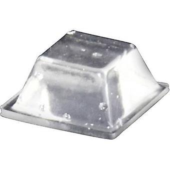 La TOOLCRAFT PD2126C piede autoadesive, quadrato trasparente (L x W x H) 12,6 x 12,6 x 5,7 mm 1/PC