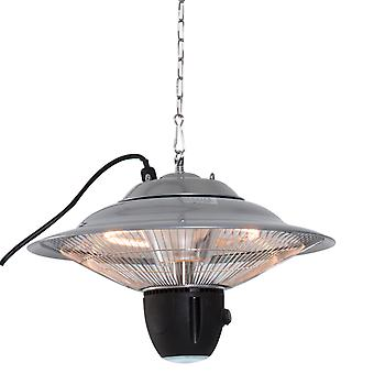 Outsunny Aluminium Patio Heater Ceiling Hanging 1500W Halogen Remote Control Electric 240V Silver