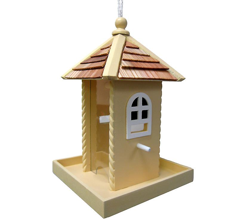 Nestling Bird Feeder in Yellow
