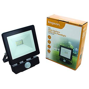 Kingavon 10W Glass Surface IP54 LED Floodlight With Sensor Lighting