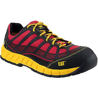 Caterpillar Mens Streamline S1P Work Safety Trainers Red