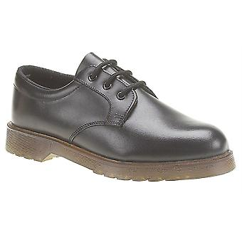 Mens Leather Upper Lace Up Uniform Smart Office School Formal Shoes