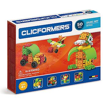 Clicformers Basic 50 PCS Set Building and Construction Toy