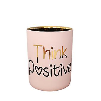Light Glow Tealight Votive Holder, Think Positive